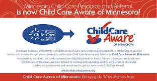 leech lake child care services ccr r is now child care