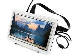 <b>Waveshare 7inch HDMI LCD</b> (B) + Bicolor case Capacitive Touch ...