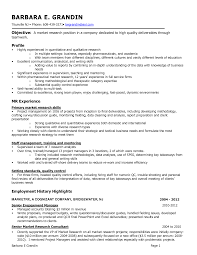 research resume samples template research resume template