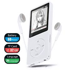 TSV <b>MP3</b> MP4 <b>Player</b>, Support UP to 32GB TF Card, Portable Digital ...