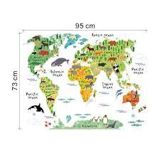 aliexpresscom buy colorful world map wall sticker decal vinyl art kids room office home decor new aliexpresscom buy office decoration diy wall