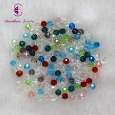 2019 <b>Multi Color</b> 4mm Bicone Crystal <b>Beads</b> Cut Faceted Round ...