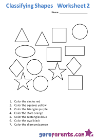Kindergarten Math Worksheets | guruparentsClassifying shapes 1 Classifying shapes 2 ...