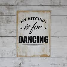 "<b>Табличка</b> из массива сосны ""MY <b>KITCHEN IS</b> FOR DANCING"" в ..."
