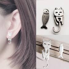 new1pair punk acrylic stud earrings piercing women men party style fashion round sequins scale auricle ear body jewelry
