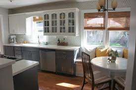 Gray And White Kitchen Designs Interesting Grey Kitchen Design Ideas With White Tile Design And