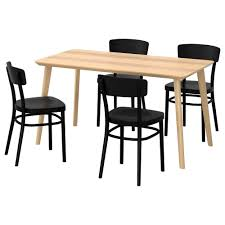 4 chair kitchen table: lisabo idolf table and  chairs ash veneer black length