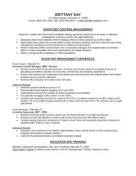 resume inventory control manager resume simple inventory control manager resume full size