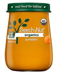 Beech-Nut® <b>Organics</b> pumpkin <b>Stage</b> 1 <b>Baby Food</b>