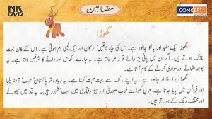essay of horse urdu learning