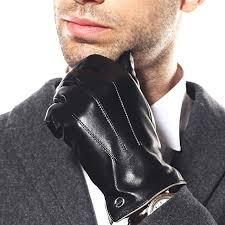 <b>Luxury Mens</b> Touchscreen Winter Nappa <b>Leather</b> Dress Driving ...