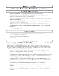 resume skills for administrative assistant template executive assistant resume objectives