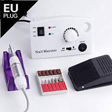 Generic 35000RPM 25W <b>Electric</b> Manicure Set <b>Nail Drill</b> Bits Milling ...