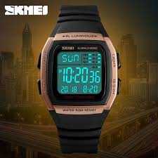 SKMEI Men <b>Sport</b> Digital <b>Watch</b> Week Display <b>5Bar Water</b> Resistant ...