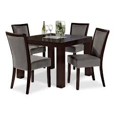 Silver Dining Room Set Tango Gray 5 Pc Dinette 42 Table Value City Furniture By Steve