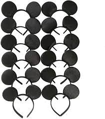 <b>Mickey</b> Mouse Ears Solid Black <b>Headband</b> for Boys and <b>Girls</b> ...