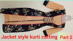 Beautiful double <b>layer jacket</b> style kurti tutorial part <b>2</b> - YouTube