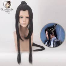 Buy <b>100cm</b> Ancient Chinese Style Hair Men Warrior long Straight ...