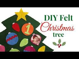 How to make a <b>Felt Christmas</b> Tree for <b>Kids</b>/ <b>DIY Felt</b> ChristmasTree ...