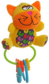 <b>Bondibon</b> Мягкая игрушка-<b>погремушка Кот</b>-<b>пищалка</b> ВВ1299, цвет ...