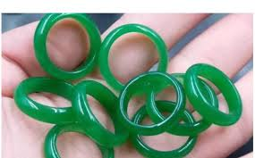 NEW model real stone emerald green <b>jade hand engraving</b> Rings and