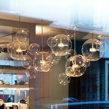<b>Clear glass ball living</b> room chandeliers art deco bubble lamp ...