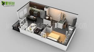 D Floor Plan Design  Interactive D Floor Plan   Yantram Studio d floor plan cgi design for small house