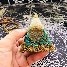 <b>Orgonite</b> Pyramid <b>Anahata</b> Chakra Sandalphon Life Potential ...