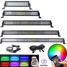 ecahayaku 324w 3 row 5 light modes led light bar car 20 inch combo beam for trucks atv 4x4 offroad tractor jeep auto 12v