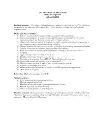 essay medical office assistant job description sample job essay cover letter medical front desk receptionist job description medical office assistant job