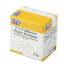 """<b>Plastic Adhesive Bandages</b>, 1"""" x 3"""", 100/Box - vetmedsinc"""