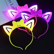 Led Headband led <b>party Cat</b> Ears <b>Glow</b> Headband For Kids Light Up ...