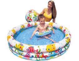 Купить <b>Детский бассейн INTEX</b> Веселые <b>рыбки</b> 132х28 см (с ...