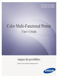 Samsung CLX-<b>9352</b> User Manual | Image Scanner | Fax