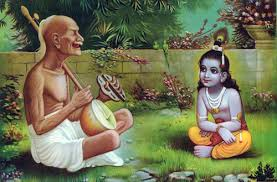Image result for images of old man singing before lord krishna