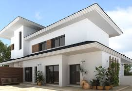 Decoration Modern Colors To Paint A House Exterior In White And - Black window frames for new modern exterior