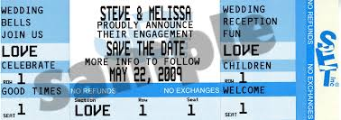 save the date ticket announcements here is what one customer said about the save the date ticket invitations she ordered