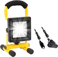 <b>LED</b> Work Light <b>Rechargeable</b> Battery Floodlight <b>Waterproof</b> ...