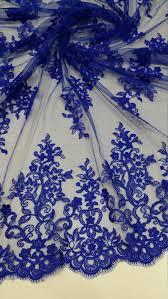<b>Royal blue lace</b> fabric Alencon <b>Lace French Lace</b> by LaceToLove ...