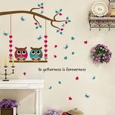 <b>1PCS DIY</b> Cute Black Owl Birds Branch Animls <b>Switch</b> Decal Wall ...