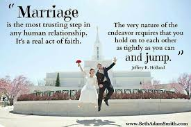 Marriage, lds quotes | spiritual | Pinterest | Marriage, Faith and ... via Relatably.com