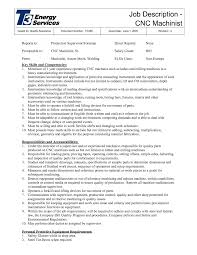 cnc job description template cnc job description