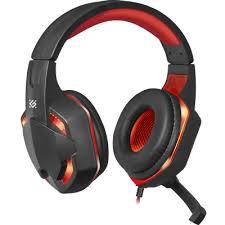 Игровая <b>гарнитура Defender Warhead G-370</b> черный+красный ...