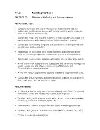 marketing coordinator   job description   hashdocmarketing coordinator   job description
