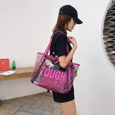 Maison Fabre <b>Summer</b> Big <b>Transparent Jelly Bag</b> PVC Tote ...