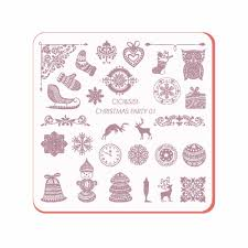 party design templates reviews online shopping party design new coming acrylic layering nail art templates plastic christmas design stamp polish nail stamping pl christmas party 01 04