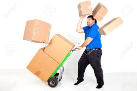 indoors package images stock pictures royalty indoors indoors package moving accident dropping falling box hand truck