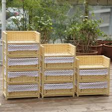 household essentials sundries storage box drawer wooden frame weave storage office desktop organizer adjustable drawer organizer cheap office drawers