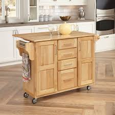 leaf kitchen cart: home styles natural breakfast bar kitchen cart with wood top walmartcom