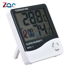 for HTC 1 <b>Indoor Room LCD</b> Electronic Temperature Humidity Meter ...
